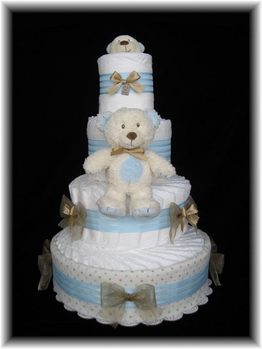 Beautiful Diaper Cakes Make an Elegant and Useful Baby Shower Gift