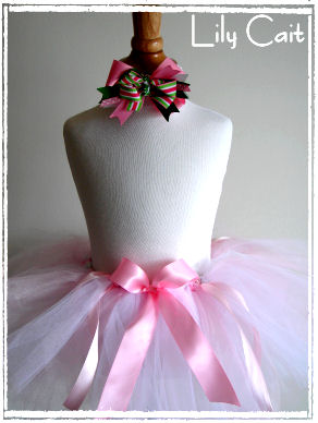 Pink and White Grace Tutu from Lily Cait