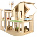 Plan Toys Green Eco-Friendly Concept Dollhouse