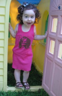 Janis Joplin Toddler T-Shirt Dress