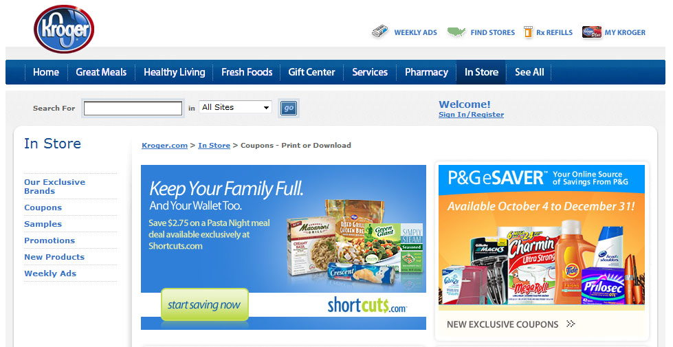 Kroger Savings Page