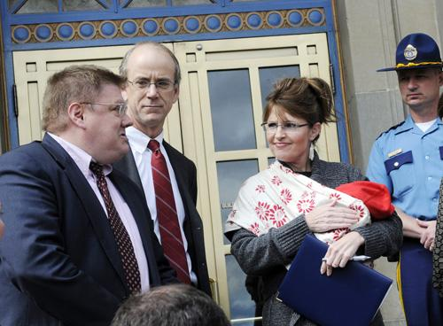 Babywearing with Sarah Palin