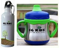 CG Kidz Stainless Steel Sippy and Bottle