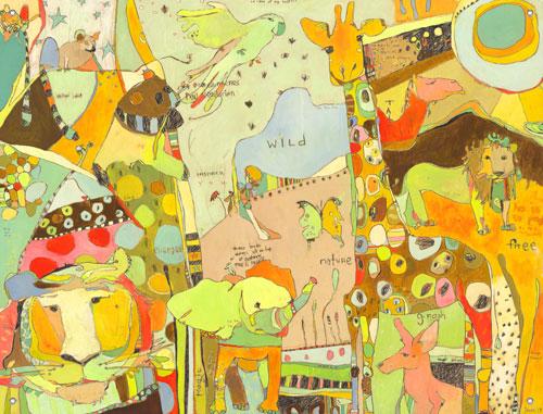 Jungle Animal Children\'s Mural