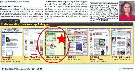 Mamanista in Playthings Magazine