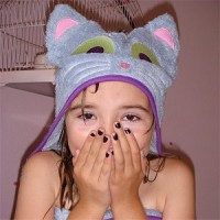 BamBoo Hugs Eco-Friendly Kitty Hooded Towel for Children