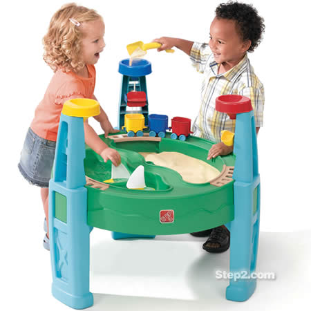 Chugga, Chugga, SPLASH! Water & Sand Table Review and Contest