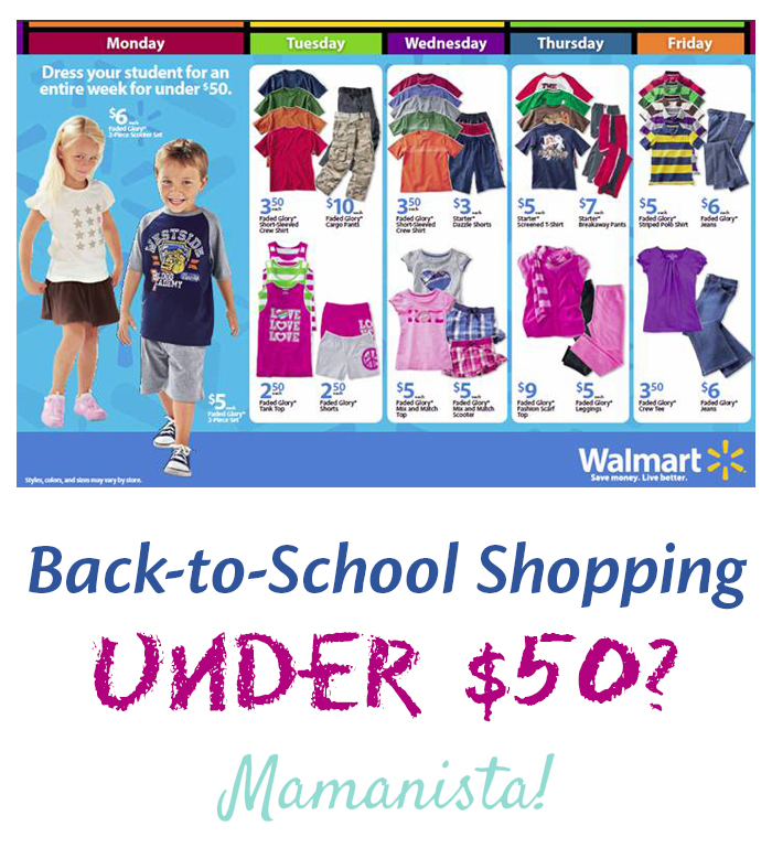 Back-to-School Shopping Under $50