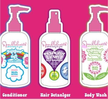 We Heart Sparklehearts Hair Detangler