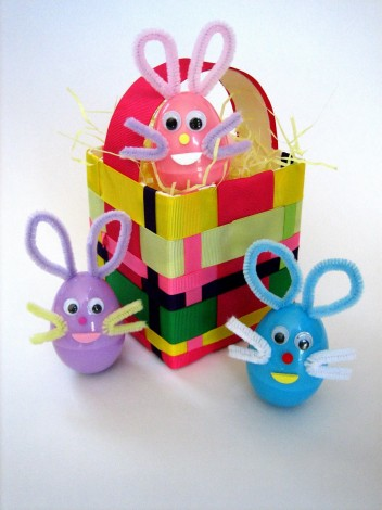 Easter Basket Made from a Milk Carton or Juice Carton