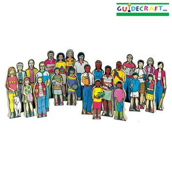 Guidecraft Multi-Cultural Family Figurines