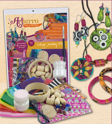 Eco-Friendly Jewelry Collage Craft Kit