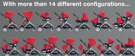 Britax B-Ready Doubles Stroller 14 Different Configurations