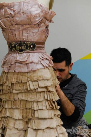 Michael Costello - Layered Dress from Final Collection