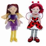 Beneath the Leaf Fairy and Lana Lady Bug Dolls from Manhattan Toy