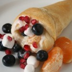 Sweet Crescent Roll Cornucopias from Make and Takes
