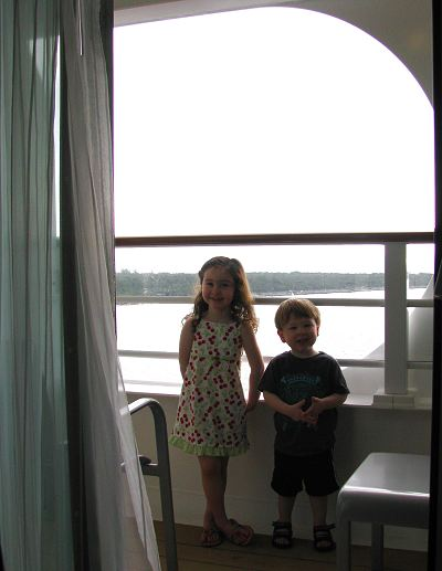 Balcony / Verandah in the Disney Dream Stateroom Cabin Room