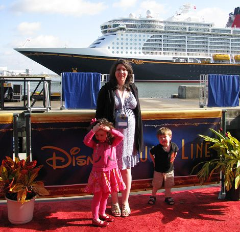 Disney Dream Christening Red Carpet. Candace Lindemann of Mamanista.com with