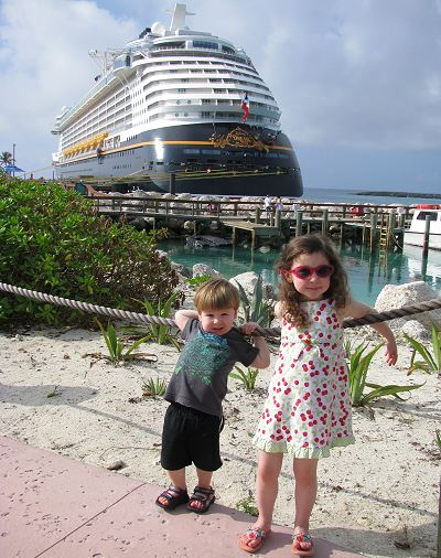Disney Dream Cruise Ship Docked at Castaway Cay