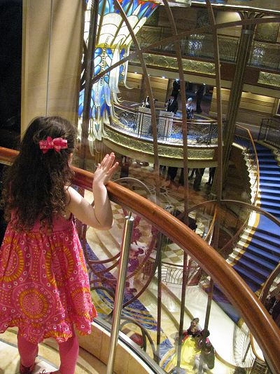 Disney Dream Decor View of the Lobby from the Elevator