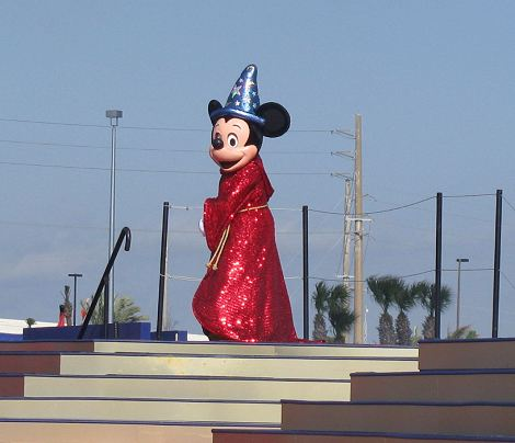 Mickey Mouse in Sorcerer's Apprentice Regalia for the Disney Dream Christening.