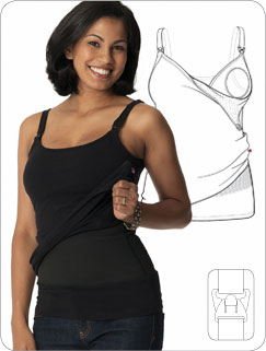 Glamourmom Nursing Tank Top with Compression
