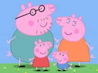 Peppa Pig and her family