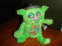 Green stinky little trash monster