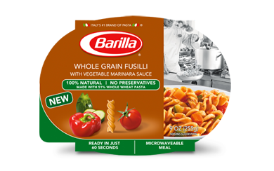 Barilla Microwaveable Meals- Whole Grain Fusilli