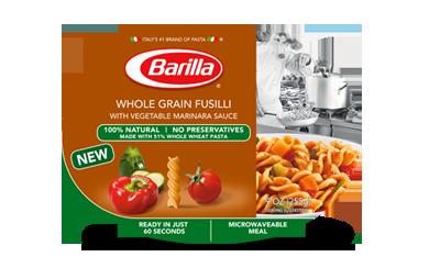 Barilla Microwaveable Meals- Whole Grain Fusilli