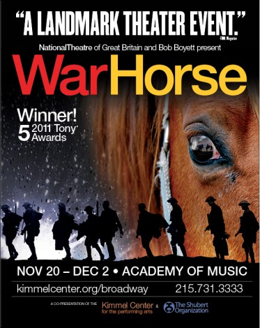 Kimmel Center brings Broadway to Philadelphia with WarHorse