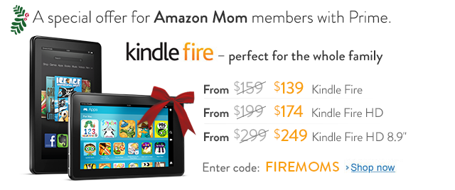 Amazon.com Kindle Fire Coupon Code Gets Moms $20-$50 OFF! Wow!