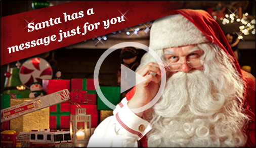 Santa Sends a Special Video Message via Portable North Pole