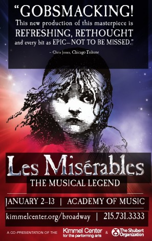 Les Miserables:  Philadelphia's Academy of Music January 2-13