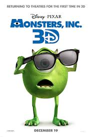 Monsters Inc 3D DVD Review