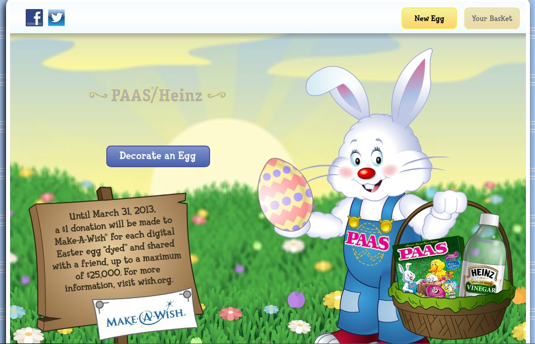 Heinz/PAAS Egg Decorator App and Make-a-Wish