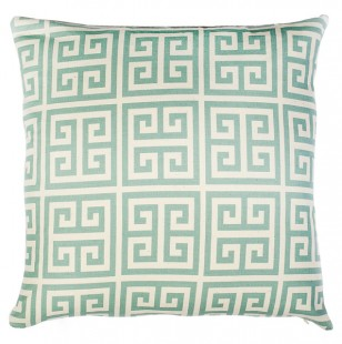 greek key print pillow