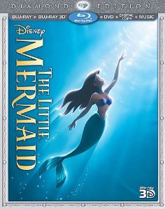 The Little Mermaid Three-Disc Diamond Edition (Blu-ray 3D / Blu-ray / DVD + Digital Copy + Music) is Here!