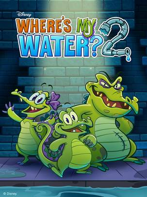 Swampy, Cranky and Allie Return in Over 100 New Puzzles and Challenges for Where's My Water? 2