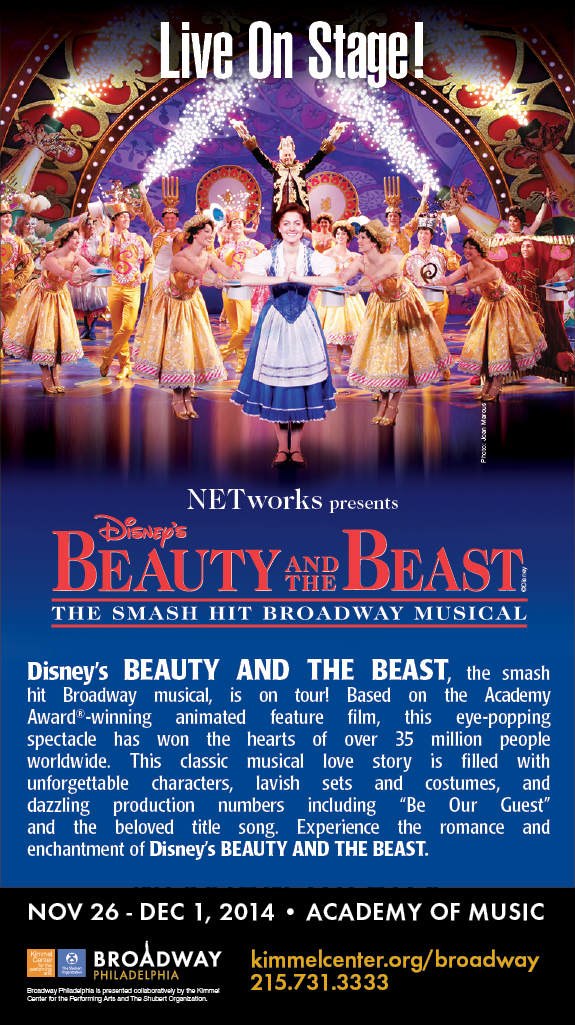 Broadway Philadelphia: Disney's Beauty and the Beast at the Academy of Music