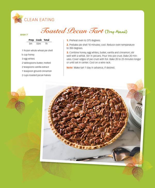 clean eating pecan tart