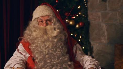 Santa's Video Visit Via Portable North Pole
