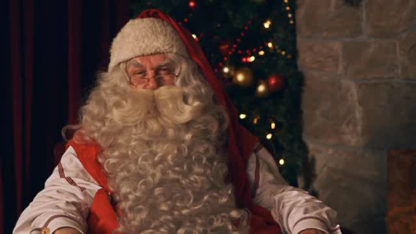 Santa's Video Visit Via Portable North Pole