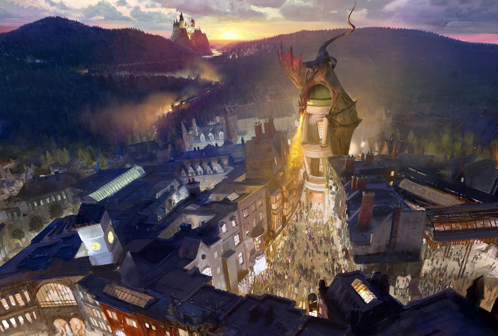 The brand new Diagon Alley at Universal Studios' Wizarding World of Harry Potter