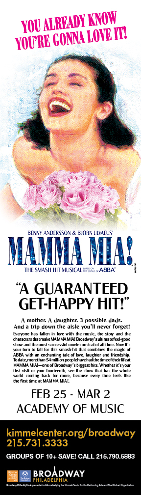 MAMMA MIA! Comes to Broadway Philadelphia at the Academy of Music
