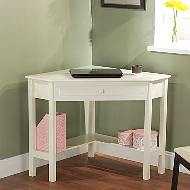 Staples white corner desk