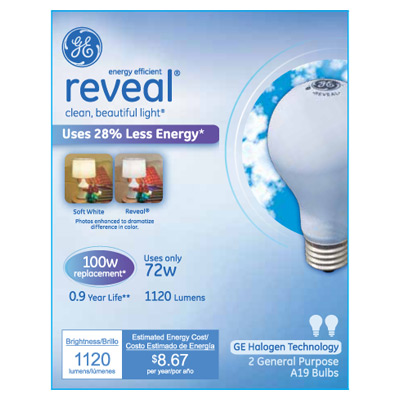 Energy Efficient Lighting with the GE Reveal Light Bulb