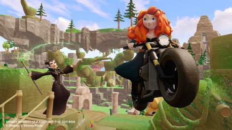 Merida and Maleficent