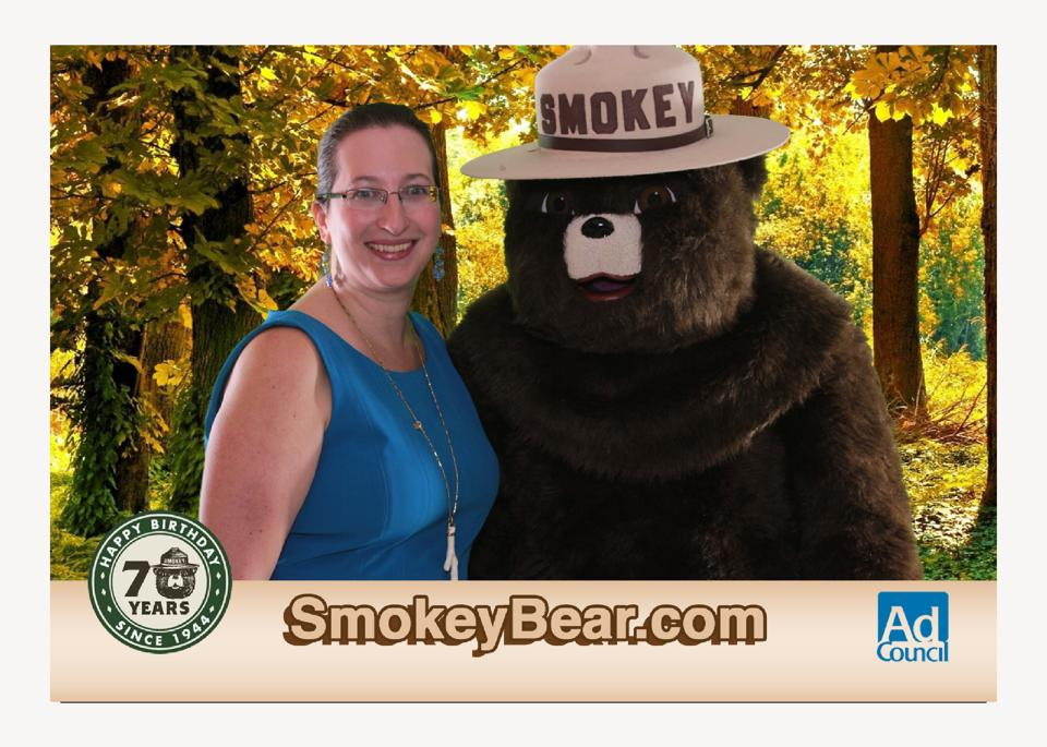 Only YOU can prevent forest fires - Smokey Bear