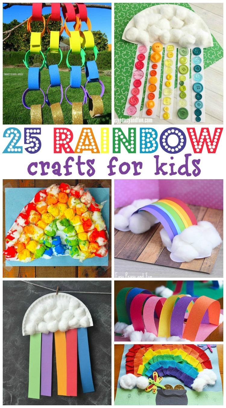 25 Rainbow Crafts For Kids Mamanista